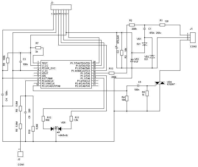 Схема устройства в варианте